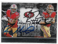 RAHEEM MOSTERT & GEORGE KITTLE SAN FRANCISCO 49ers DOUBLE AUTOGRAPHED FOOTBALL CARD #11421B