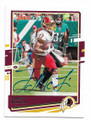 TERRY McLAURIN WASHINGTON REDSKINS AUTOGRAPHED FOOTBALL CARD #11421D