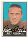 RAY RENFRO CLEVELAND BROWNS AUTOGRAPHED VINTAGE FOOTBALL CARD #11521D