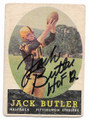 JACK BUTLER PITTSBURGH STEELERS AUTOGRAPHED VINTAGE FOOTBALL CARD #11921D
