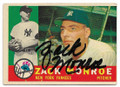 ZACK MONROE NEW YORK YANKEES AUTOGRAPHED VINTAGE BASEBALL CARD #12021C