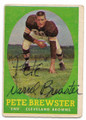 PETE BREWSTER CLEVELAND BROWNS AUTOGRAPHED VINTAGE FOOTBALL CARD #12321D