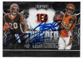 JOE MIXON & AJ GREEN CINCINNATI BENGALS DOUBLE AUTOGRAPHED FOOTBALL CARD #12521C