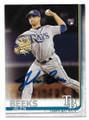 JALEN BEEKS TAMPA BAY RAYS AUTOGRAPHED ROOKIE BASEBALL CARD #13021A
