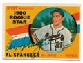 AL SPANGLER MILWAUKEE BRAVES AUTOGRAPHED VINTAGE ROOKIE BASEBALL CARD #13021D