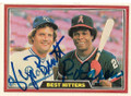 GEORGE BRETT & ROD CAREW KANSAS CITY ROYALS & CALIFORNIA ANGELS DOUBLE AUTOGRAPHED VINTAGE BASEBALL CARD #20121A