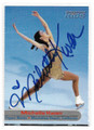 MICHELLE KWAN OLYMPIC FIGURE SKATING MEDALIST AUTOGRAPHED CARD #20121C