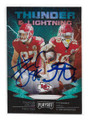 TRAVIS KELCE & TYREEK HILL KANSAS CITY CHIEFS DOUBLE AUTOGRAPHED FOOTBALL CARD #21121D