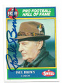 PAUL BROWN CLEVELAND BROWNS AUTOGRAPHED VINTAGE FOOTBALL CARD #21521A