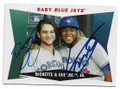 BO BICHETTE & VLADIMIR GUERRERO JR TORONTO BLUE JAYS DOUBLE AUTOGRAPHED BASEBALL CARD #21921F