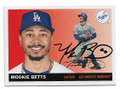MOOKIE BETTS LOS ANGELES DODGERS AUTOGRAPHED BASEBALL CARD #22821F