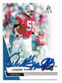 ANDRE TIPPETT NEW ENGLAND PATRIOTS AUTOGRAPHED FOOTBALL CARD #30121F
