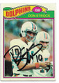 DON STROCK MIAMI DOLPHINS AUTOGRAPHED VINTAGE FOOTBALL CARD #30221E