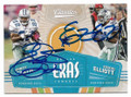 EMMITT SMITH & EZEKIEL ELLIOTT DALLAS COWBOYS DOUBLE AUTOGRAPHED FOOTBALL CARD #30321D