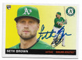 SETH BROWN OAKLAND ATHLETICS AUTOGRAPHED ROOKIE BASEBALL CARD #30421D