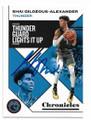 SHAI GILGEOUS-ALEXANDER OKLAHOMA CITY THUNDER AUTOGRAPHED BASKETBALL CARD #30421E