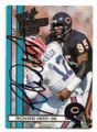 RICHARD DENT CHICAGO BEARS AUTOGRAPHED VINTAGE FOOTBALL CARD #30521A