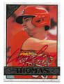 LANE THOMAS ST LOUIS CARDINALS AUTOGRAPHED BASEBALL CARD #30521B