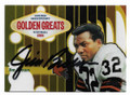 JIM BROWN CLEVELAND BROWNS AUTOGRAPHED FOOTBALL CARD #30621C