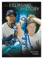 MARIANO RIVERA & WHITEY FORD NEW YORK YANKEES DOUBLE AUTOGRAPHED BASEBALL CARD #32121C