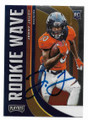 JERRY JEUDY DENVER BRONCOS AUTOGRAPHED ROOKIE FOOTBALL CARD #32121D
