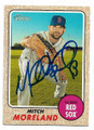 MITCH MORELAND BOSTON RED SOX AUTOGRAPHED BASEBALL CARD #32421A