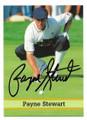 PAYNE STEWART AUTOGRAPHED GOLF CARD #43021B