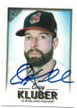 COREY KLUBER CLEVELAND INDIANS AUTOGRAPHED BASEBALL CARD #50321A