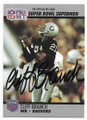 CLIFF BRANCH OAKLAND RAIDERS AUTOGRAPHED VINTAGE FOOTBALL CARD #61421B