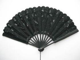 Lace Fan Black