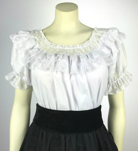 Fiesta Blouse - White