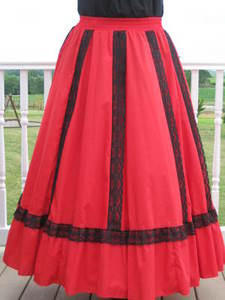 Fiesta Skirt- Red