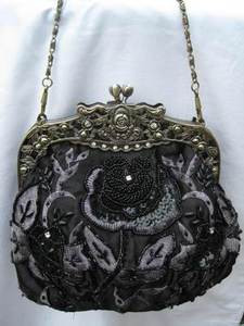 Vintage Evening Bag - Black