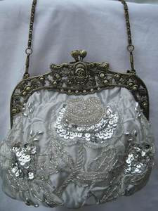 Vintage Evening Bag HBO3311-SIL