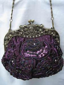 Vintage Evening Bag HBO3311-PUR