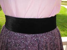 Velvet Straight Belt