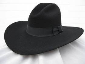 Low Gus Black Felt Hat