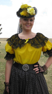 Lace Collar Blouse Yellow