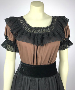 Fiesta Blouse - Brown/Black