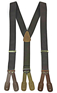 Canvas Suspenders - Dark Brown