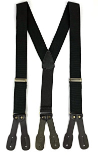 Canvas Suspenders - Black