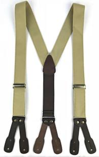 Canvas Suspenders - Khaki