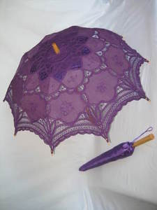 Battenburg Lace Parasol Purple