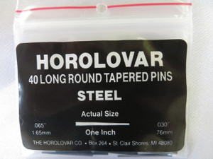 "Horolovar Steel Taper Pins .065"" - .030"""