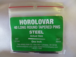 """Horolovar Steel Taper Pins .050"""" - .012"""""""