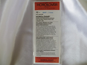 """Horolovar .0045"""" - .114mm 12 Pack Suspension Springs"""