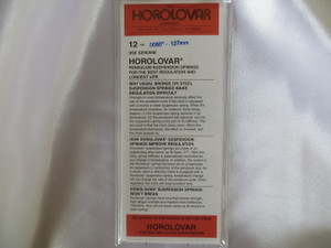 "Horolovar .0050"" - .127mm 12 Pack Suspension Springs"