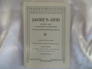 Jahresuhren-Fabrik '1905' 400 Day Clock Catalog Reprint