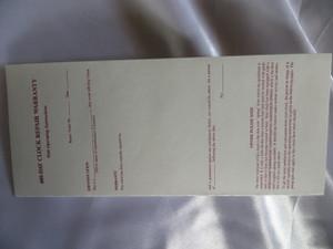 Warranty Booklet