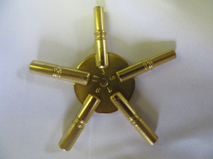 5 Prong Star American Brass Key - Odd Sizes